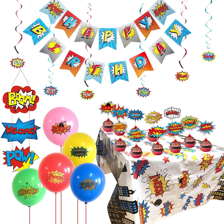 Super Hero Cake Decoration Banner Decorating Topper Kit