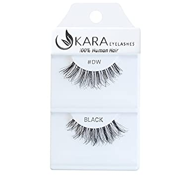 625637bece3 Amazon.com : Kara Beauty 100% Human Hair False Eyelashes Demi Wispies- DW  with Adhesive (PACK OF 3) : Beauty