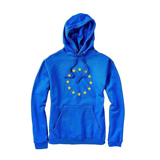 Butlers Europa Kapuzenpullover in verschiedenen Größen EUROPAWAHL Hoodie in Blau Pullover für Damen und Herren