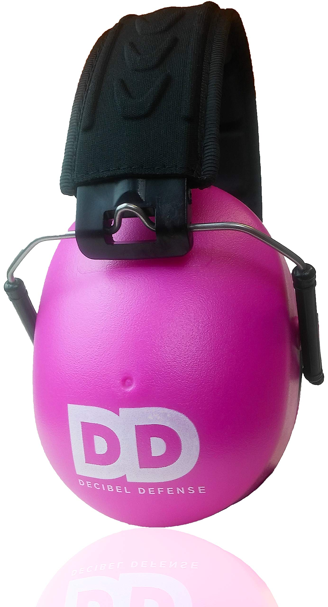 Professional Safety Ear Muffs by Decibel Defense - 37dB NRR - The HIGHEST Rated & MOST COMFORTABLE Ear Protection For Shooting & Industrial Use - THE BEST HEARING PROTECTION GUARANTEED! (PINK) by DECIBEL DEFENSE