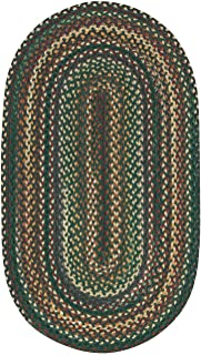 "product image for Capel Rugs Sherwood Forest Rectangle Braided Runner, 24"" x 8' Runner, Dark Green"