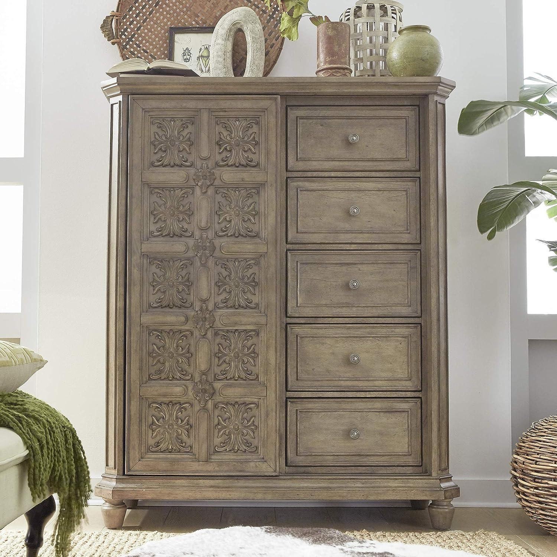 Liberty Furniture Industries Laurels Chest, Sliding Door, Brown