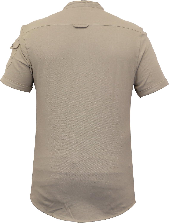 Brave Soul Camisa Hombre Pique Abuelo con Cuello Algodón con ...