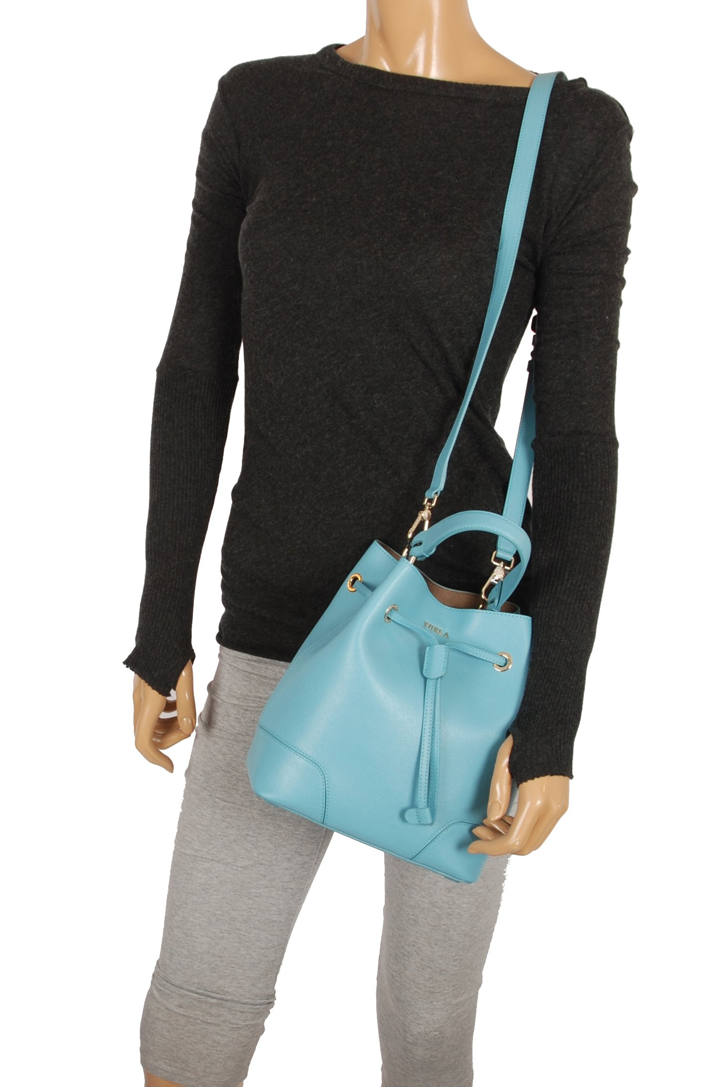 Furla Stacy S Drawstring crossbody bag in Turquoise by Furla (Image #3)