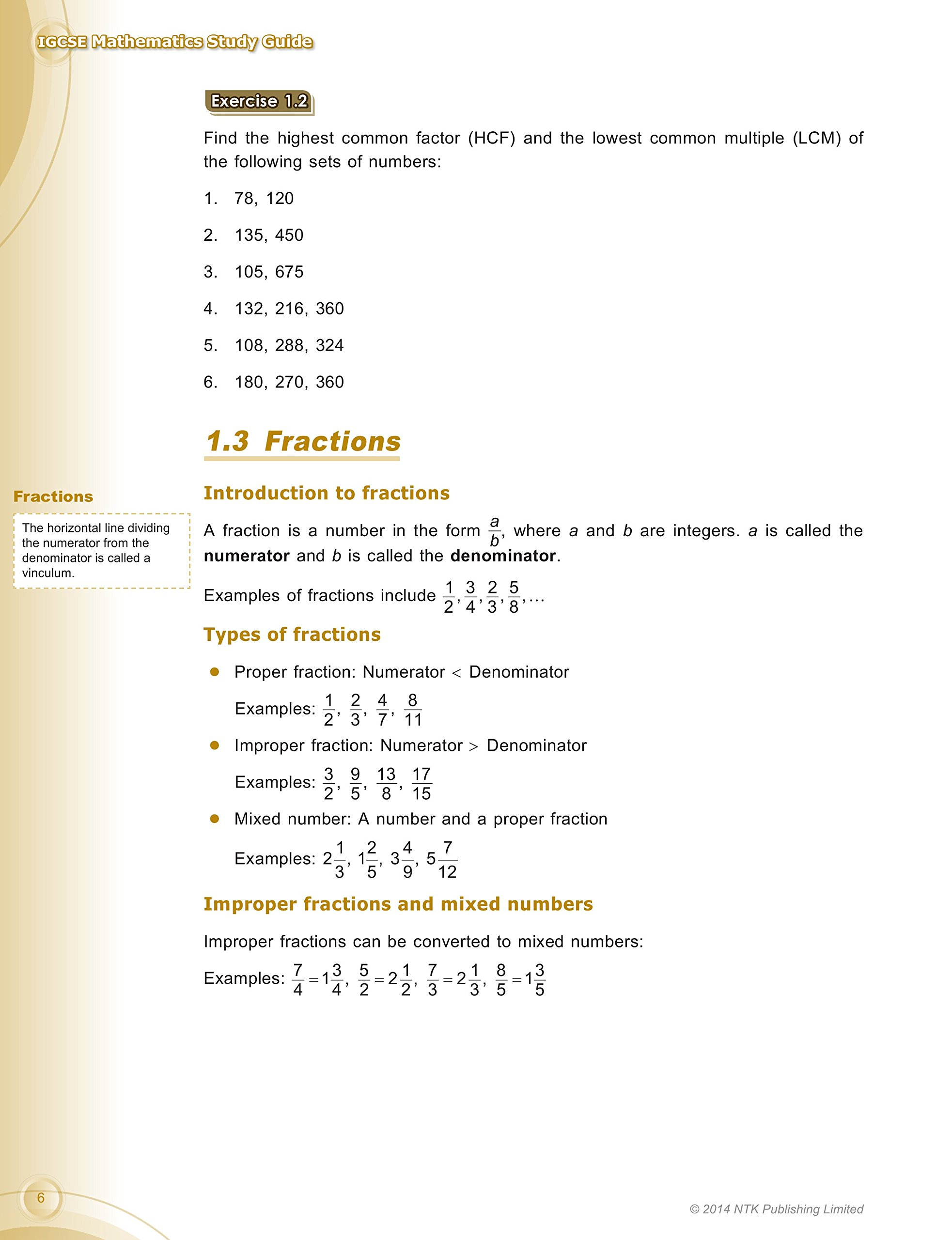 IGCSE Mathematics Study Guide (for Edexcel & CIE Syllabuses): NTK  Publishing Team: 9789881555526: Amazon.com: Books