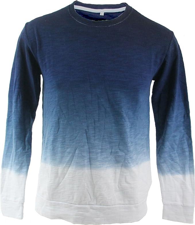 Camiseta Trankilo de manga larga degradada azul y blanco (S): Amazon.es: Ropa y accesorios