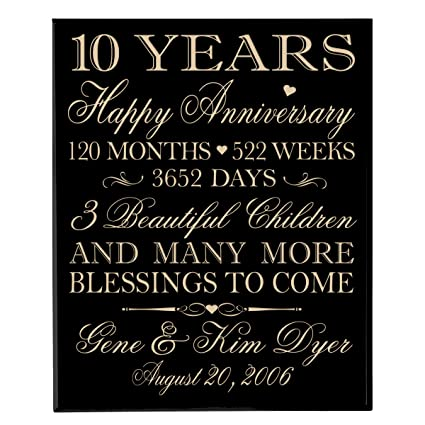 amazon com personalized 10 year anniversary gifts for couple
