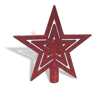 Weihnachtsbaumspitze stern rot
