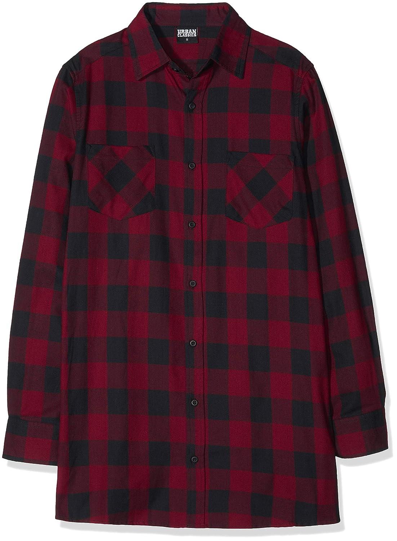 TALLA S. Urban Classics Long Checked Flanell Shirt, Camisa para Hombre