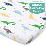 Dinosaur Fitted Pack and Play Playard Sheets