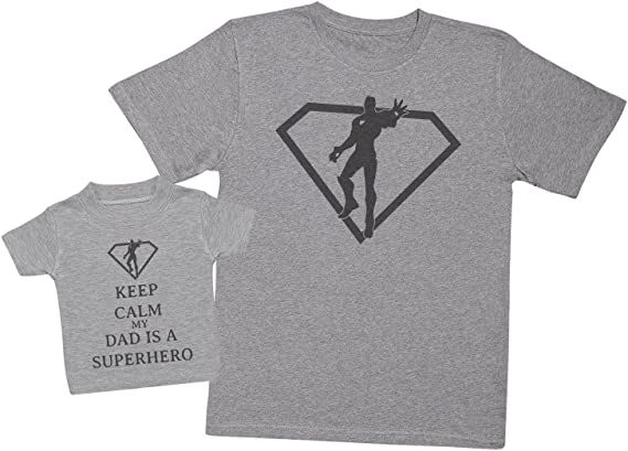 Keep Calm My Auntie is A Superhero Partnerlook Mutter-Baby-Geschenkset Damen-T-Shirt /& Baby-T-Shirt - jeweils einzeln verkauft