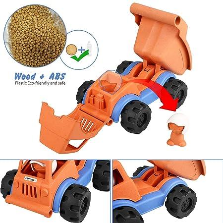Peradix Camión de Descarga de Arena Camión de Transporte de Vehículos Conductor para Niños Juego Interior y Exterior: Amazon.es: Juguetes y juegos