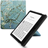 WALNEW Origami Case for 7 Inch Kindle Oasis (9th Generation - 2017 Release) Standing Cover with Auto Wake Sleep Function (7'' Kindle Oasis, Tree and Flower)