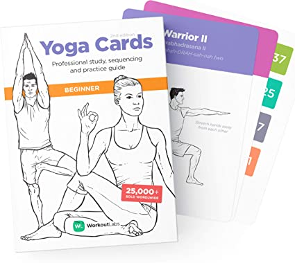 Amazon Com Workoutlabs Yoga Cards Beginner Visual Study Class Sequencing Practice Guide With Essential Poses Breathing Exercises Meditation Plastic Flash Cards Deck With Sanskrit Sports Outdoors