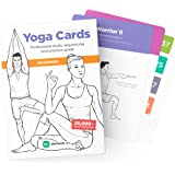 WorkoutLabs Yoga Cards – Beginner: Visual Study, Class Sequencing & Practice Guide with Essential Poses, Breathing Exercises & Meditation · Plastic Flash Cards Deck with Sanskrit