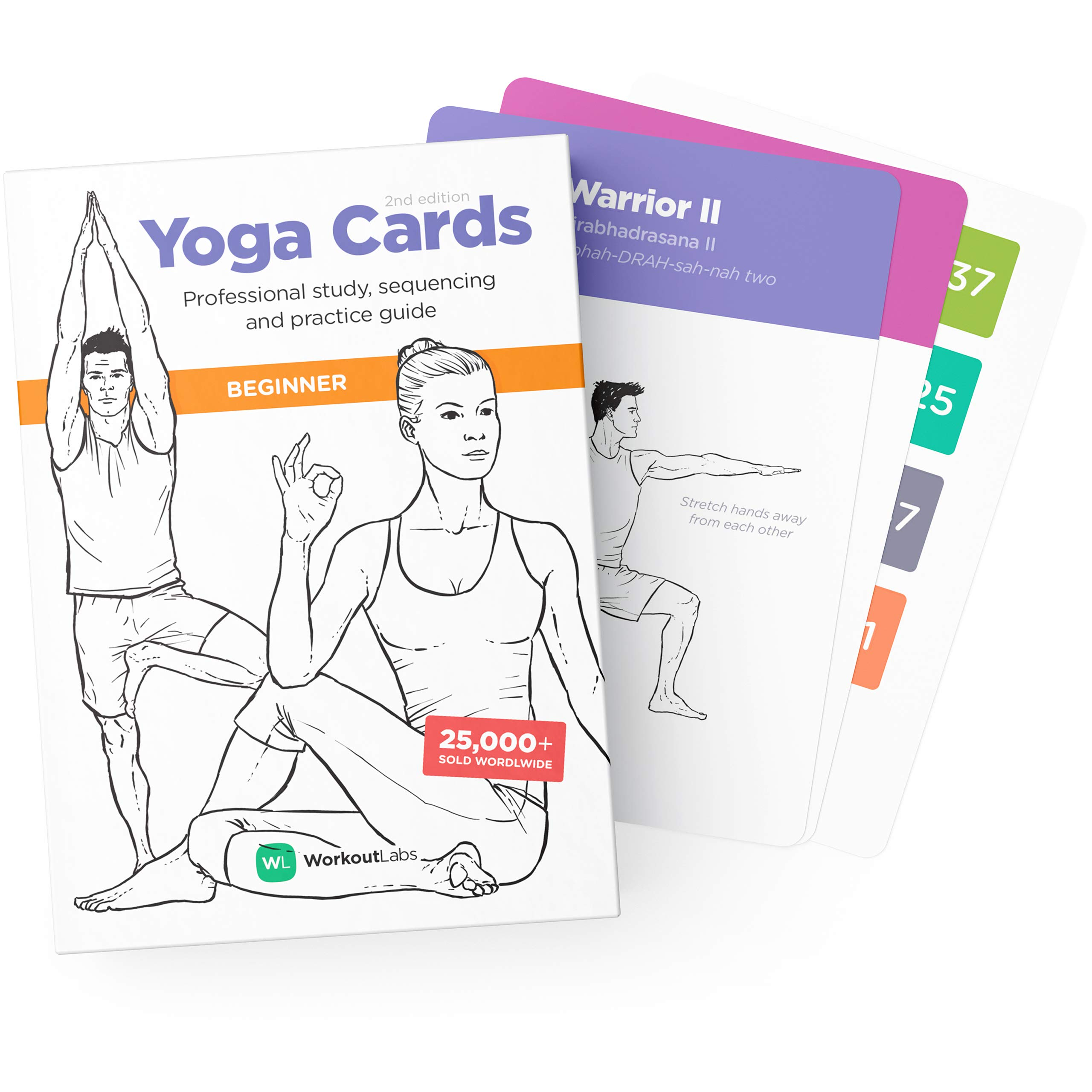 WorkoutLabs Yoga Cards – Beginner: Visual Study, Class Sequencing & Practice Guide with Essential Poses, Breathing…
