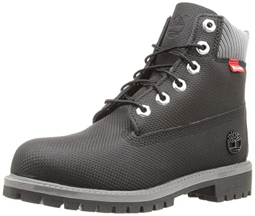 "c06784106d0de Timberland Kids Boy's 6"" Premium Boot (Little Kid) Black Relief Helcor  Boot 1"