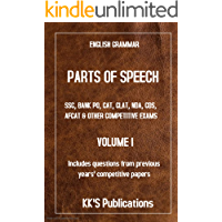 PARTS OF SPEECH  SSC, BANK PO, CAT, CLAT, NDA, CDS, AFCAT & OTHER COMPETITIVE EXAMS, NOUN, PRONOUN, SUBJECT & VERB, ADJECTIVE (VOLUME Book 2)