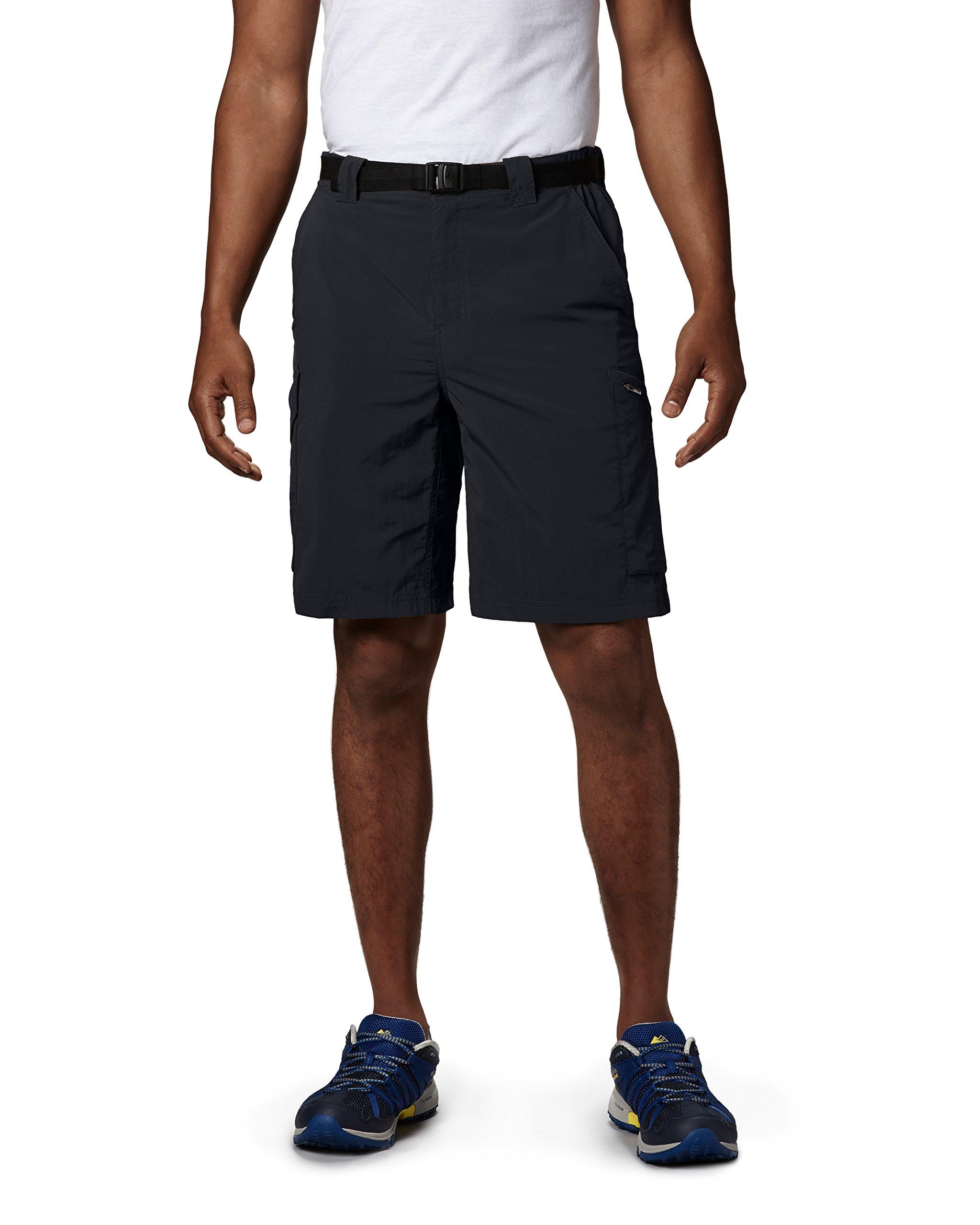 Columbia Sportswear Men's Big and Tall Silver Ridge Cargo Shorts, Black, 46 x 12
