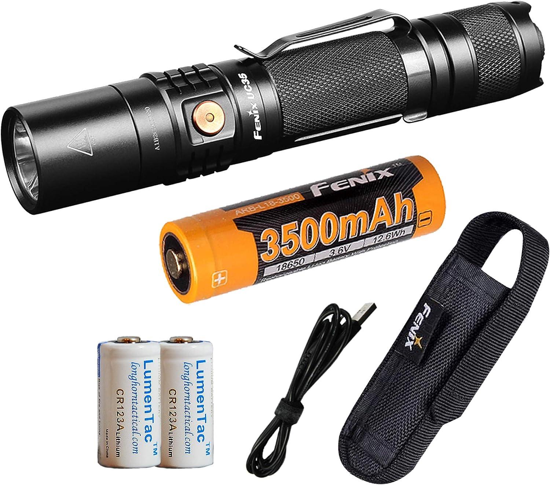 3500mAh Battery Fenix UC35 V2.0 1000 Lumen Rechargeable Tactical Flashlight