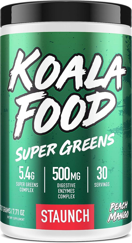 Staunch Koala Food Super Greens (30 Servings) - Peach Mango