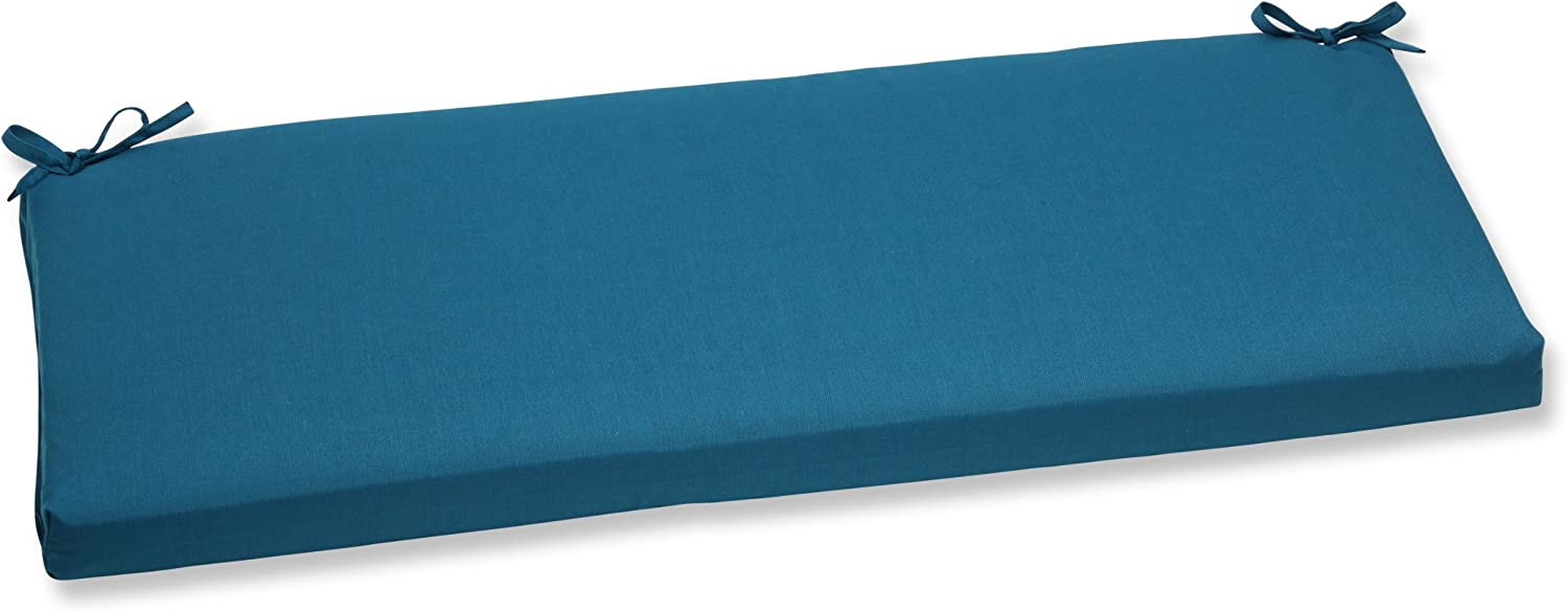 """Pillow Perfect Outdoor/Indoor Spectrum Peacock Bench/Swing Cushion, 45"""" x 18"""", Blue"""