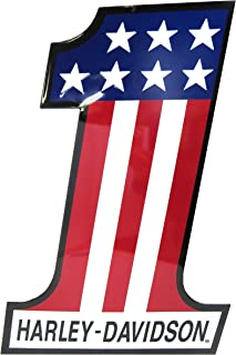 product image for Harley-Davidson Patriotic Number One (1) Tin Metal Sign 12 x 18 Inch 2010191