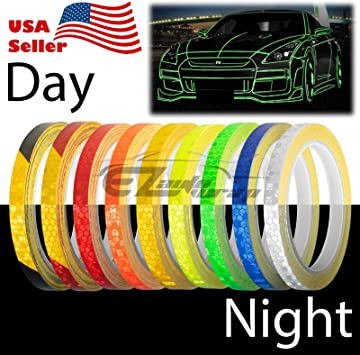 Car Reflective Body Self-Adhesive 150 feet x 1 inche Strip Vinyl White