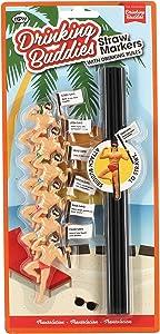 Drinking Buddies Original Straw Markers, 6-Piece Set