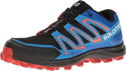 Salomon Speedtrak, Zapatillas de Trail Running para Hombre, Negro (Negro/(Black/Blue Yonder/Lava Orange) 000), 44 2/3 EU: Amazon.es: Zapatos y complementos