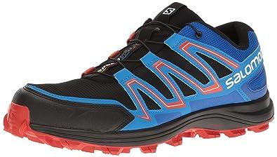 2a82d78c5cd6 Salomon Men s Speedtrak Trail Runner Black Blue Yonder Lava Orange 7 ...