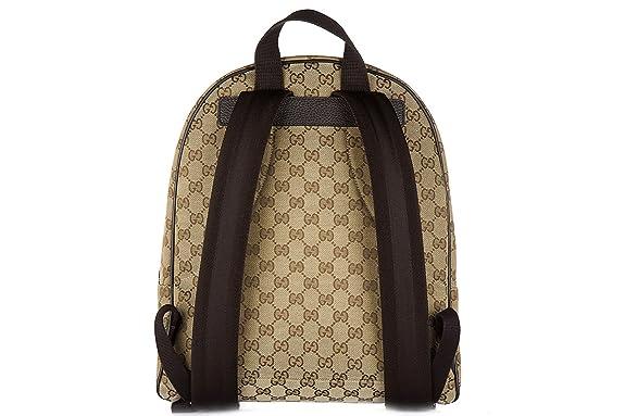Gucci mochila bolso de mujer nuevo gg lienzo beige: Amazon.es: Zapatos y complementos