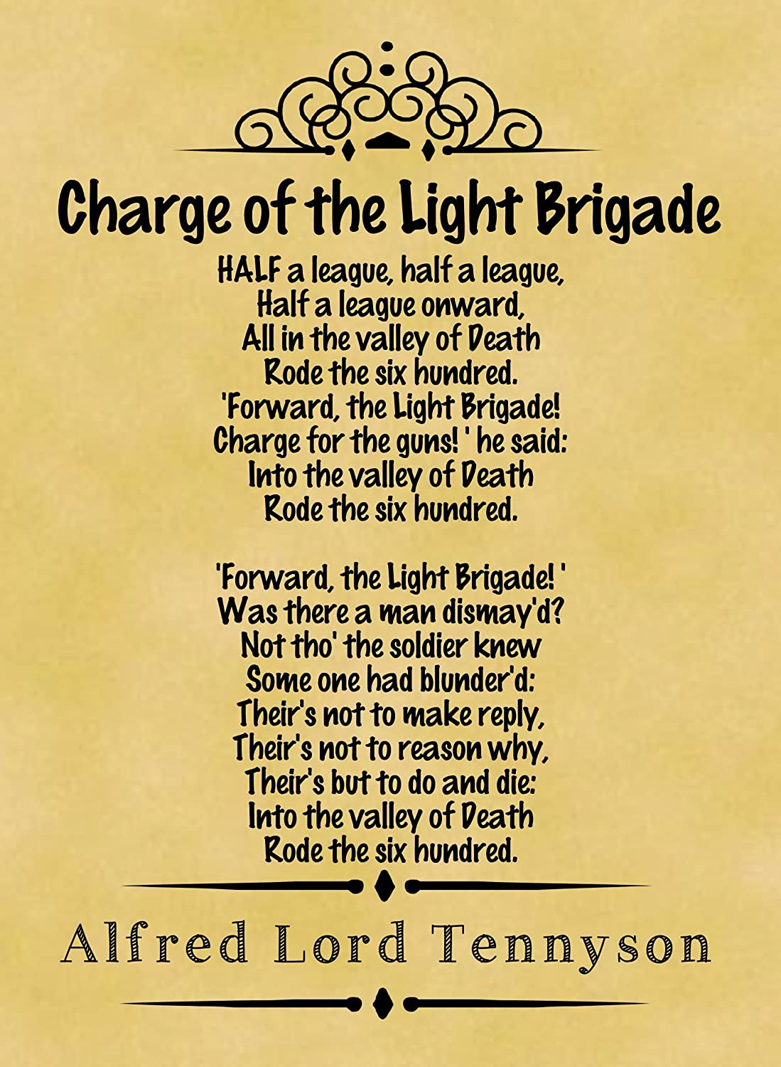 Image result for poem charge of the light brigade published