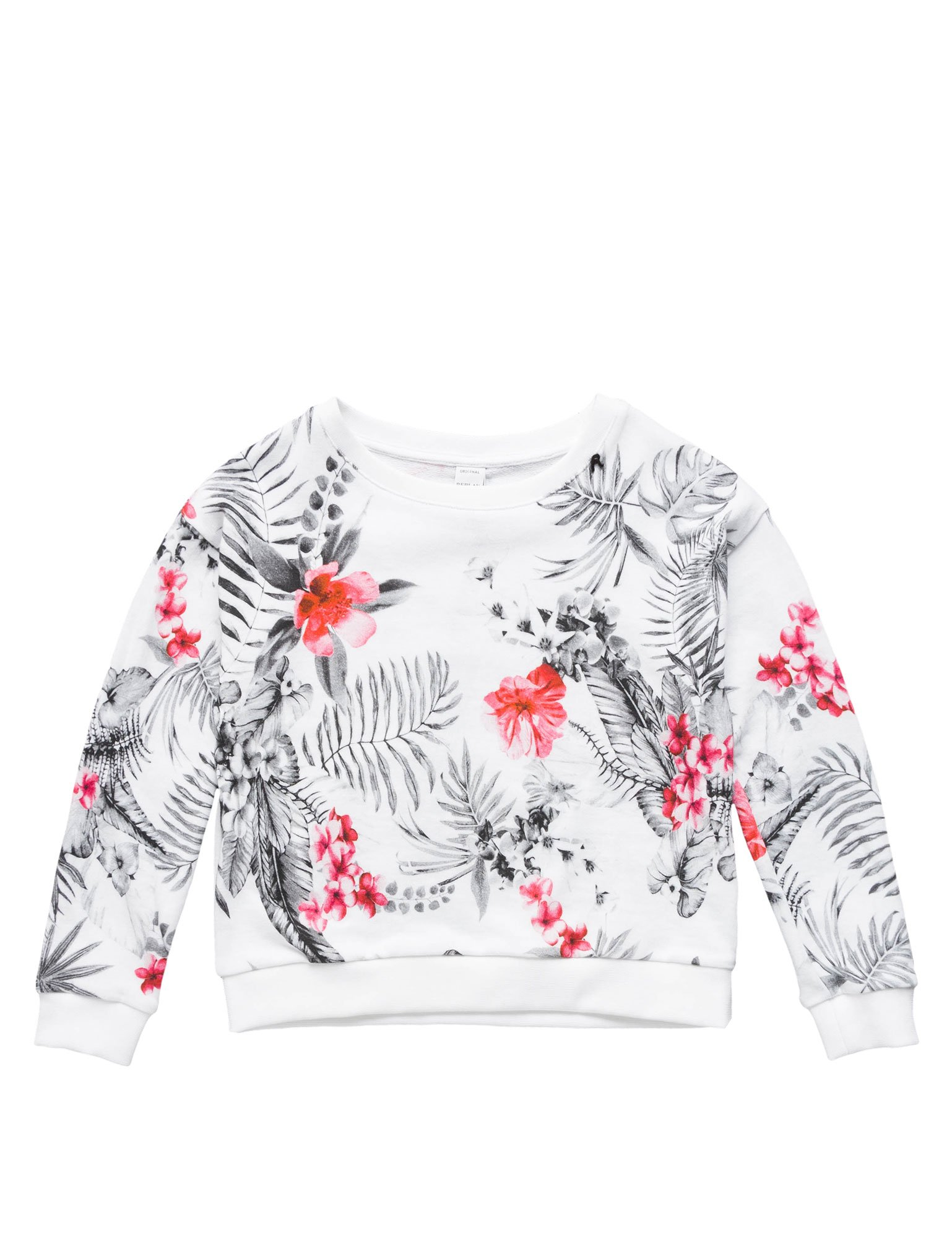 Replay Floral-Print Cotton Girl's Sweatshirt In Size 6 Years multicolour