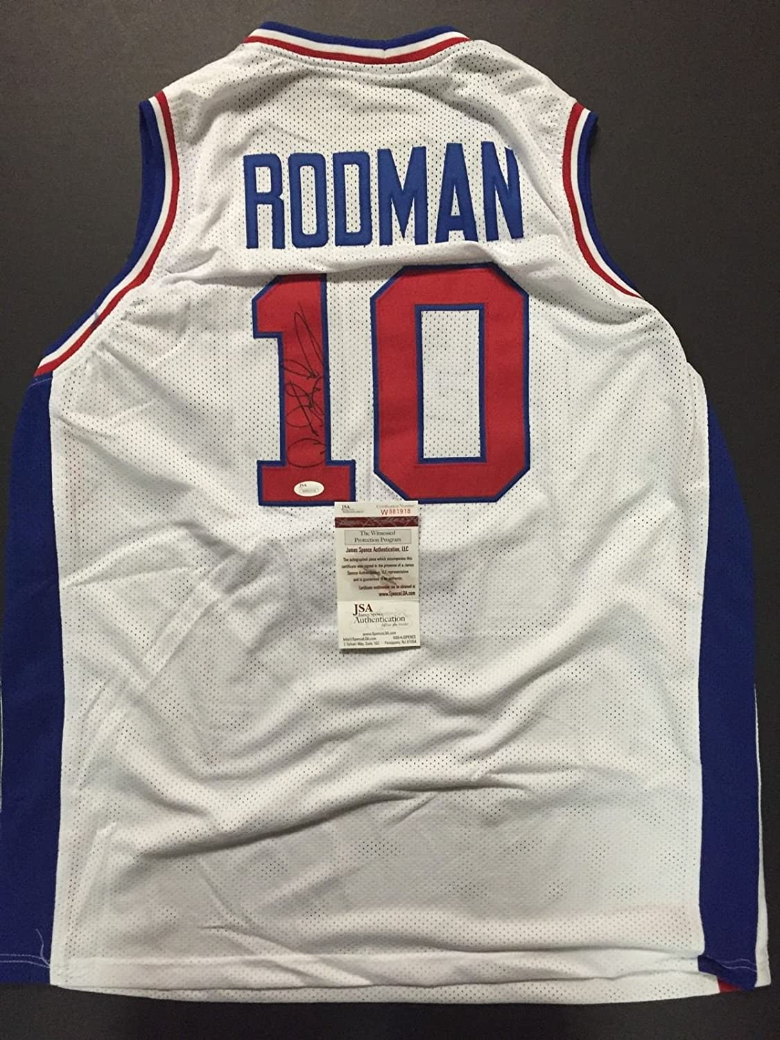 Autographed Signed Dennis Rodman Detroit White Basketball Jersey JSA COA at  Amazon s Sports Collectibles Store 0368c158a