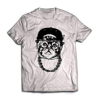 Amazoncom Cool Womens Nerdy Hip Hop Cat T Shirt Clothing