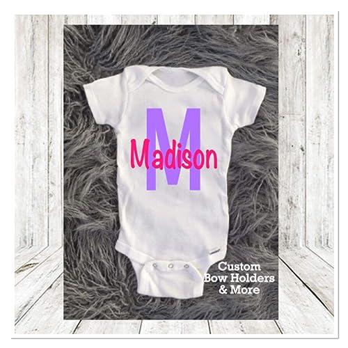 a530038ef69e2 Amazon.com: Baby Onesie, Personalized Baby Onesie, Monogram Baby Boy ...