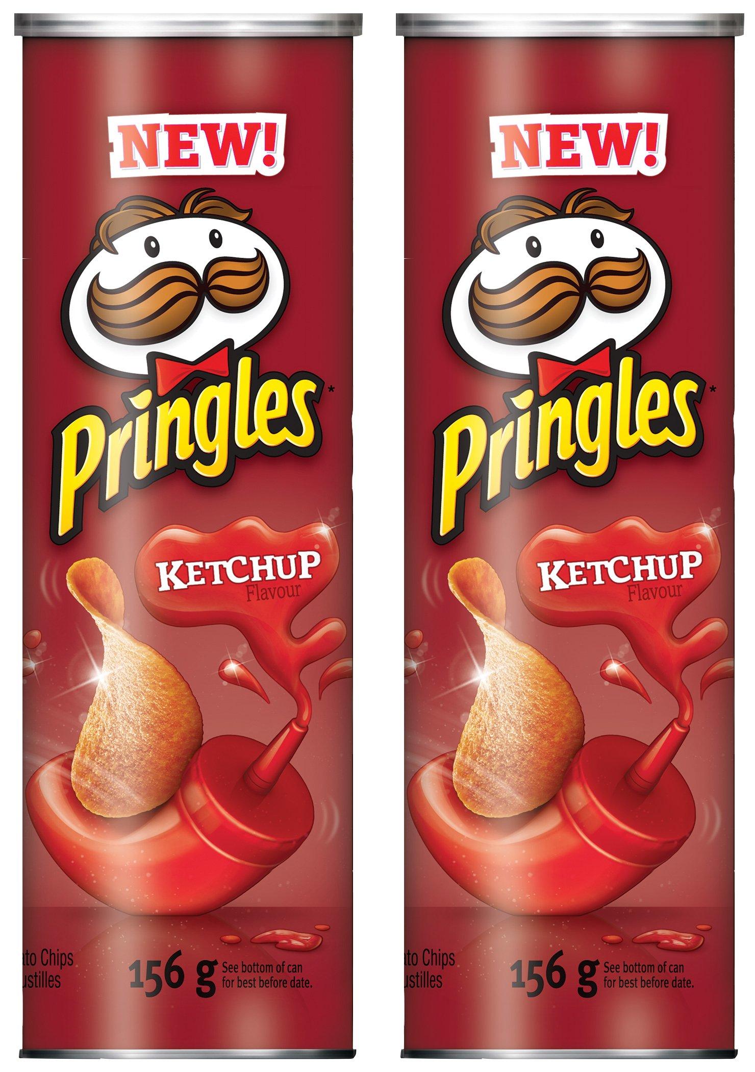 Pringles Potato Chips, Ketchup, 156 Grams/5.50oz (2 Pack) by Pringles