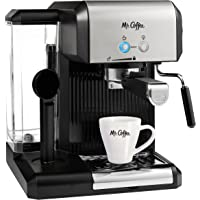 Mr. Coffee 4-Cup Steam Espresso System with Milk Frother,  ECM160