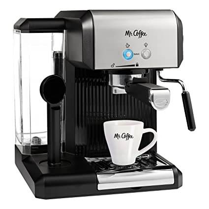 Mr Coffee Cafe Steam Automatic Espresso And Cappuccino Machine Silver Black