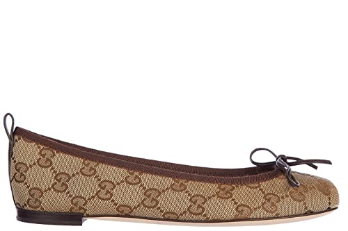 Gucci Ballerine Donna in Cotone Originale GG Miro Cocoa Beige  Amazon.it   Scarpe e borse 69ed1f7b1651