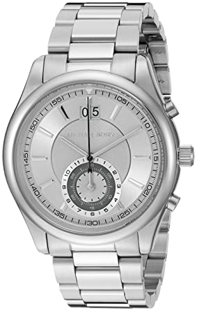 f56fef0879eb Image Unavailable. Image not available for. Color  Michael Kors Men s Aiden  Silver-Tone Watch MK8417