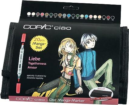 Copic Ciao Manga Amor Marker Set (Paquete de 20): Amazon.es: Oficina y papelería