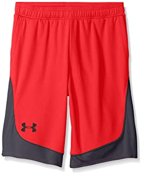 Under Armour Girls Pop A Shot Basketball Short,Red /Black, Youth ...