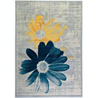 Ladole Rugs Boston Collection Contemporary Floral Pattern Area Rug Carpet