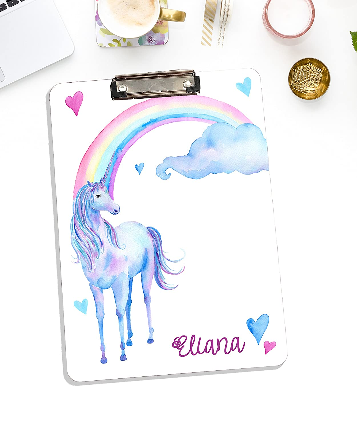Personalized Whiteboard Clipboard With Unicorn