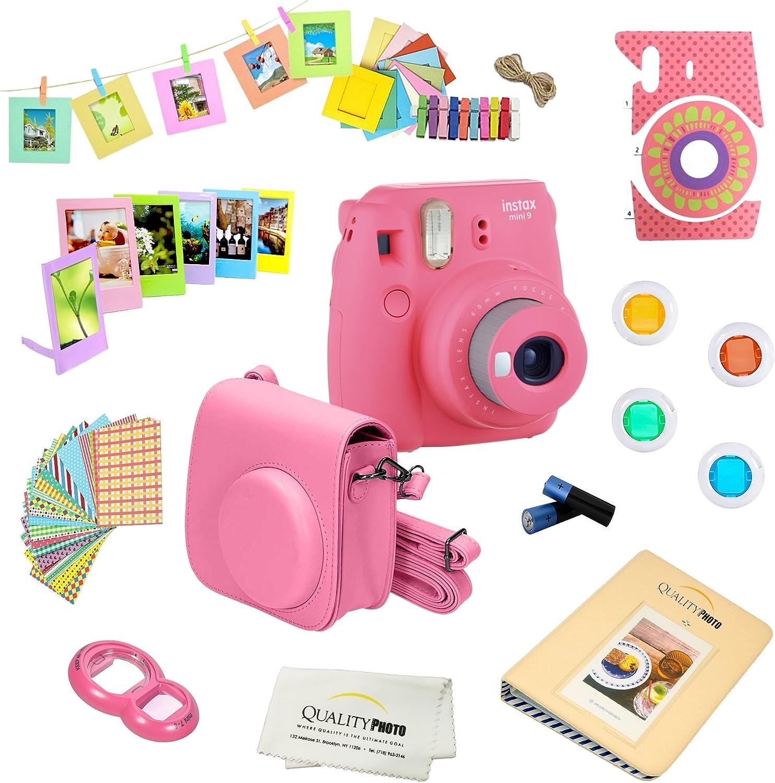 Cobalt Blue 14 PC Instax Accessories kit Bundle Album Includes; Instax Case Lens Filters Frames /& Stickers More Fujifilm Instax Mini 9 Camera
