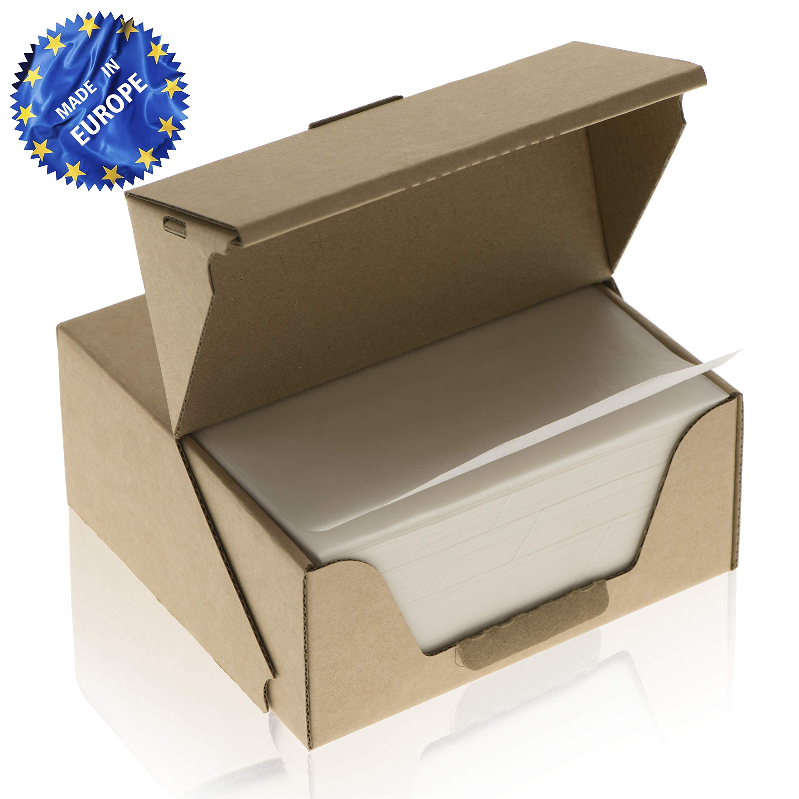 ZeZaZu Parchment Paper Squares 5.5 x 5.5 inches (1000 sheets) - MADE IN EUROPE - for Baking, Hamburger, Diamond Painting Craft | Dual-Sided Coating, Non-stick, Siliconized, Convenient Dispenser Box by ZEZAZU (Image #1)