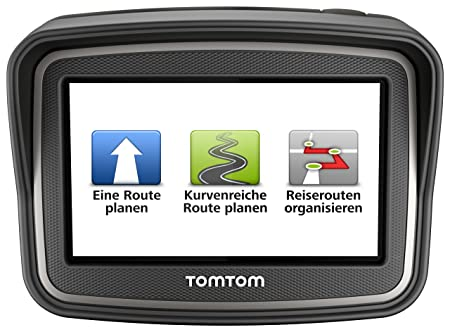 TomTom Rider Europe Premium Pack (V4) Motorradnavigationsgerät (10,9 cm (4,3 Zoll) Display, Free Lifetime Maps, Europa 45, bl