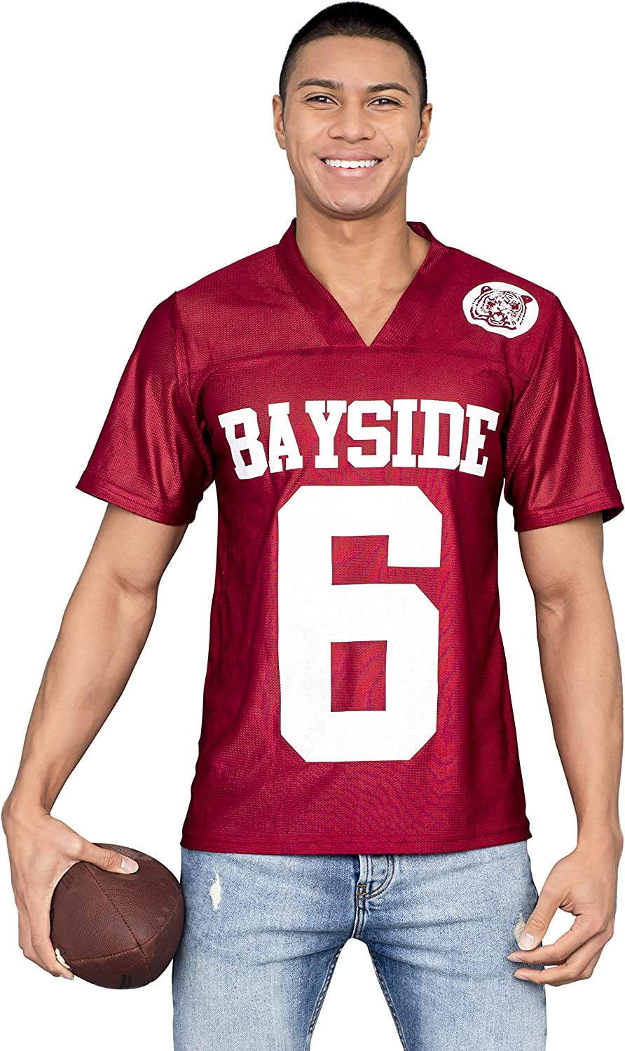 A.C Slater #6 Bayside Football Jersey Saved By The Bell AC Costume Uniform TV
